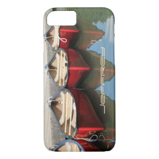 iPhone 7 Case Red Canoes & Reflections