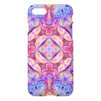 iPhone 7 Case Rose Pink Blue with Glossy Finish