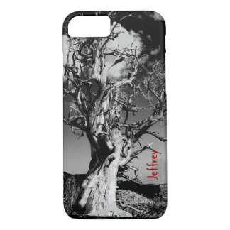 iPhone 7 Case, Scary Tree, Black and White iPhone 7 Case
