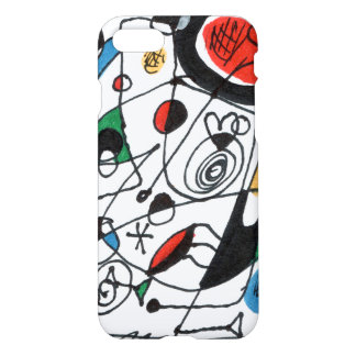 iPhone 7 case, sketch in Miro style, Frank le Pair iPhone 8/7 Case
