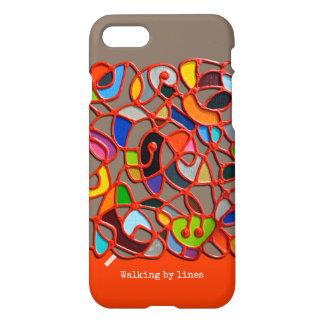 iPhone 7 case, telefoonhoesje, Walking by lines iPhone 7 Case