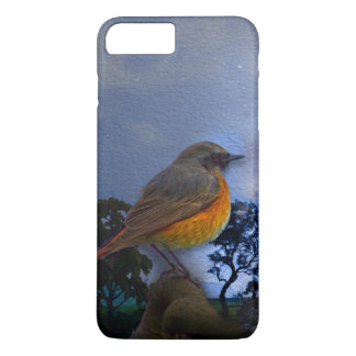 iPhone 7 case with beautiful bird illustration