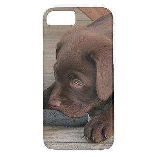 iPhone 7 case with chocolate Labrador retriever