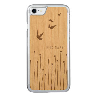 iPhone 7 case wood and birds