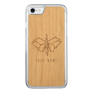 iPhone 7 case wood and butterfly