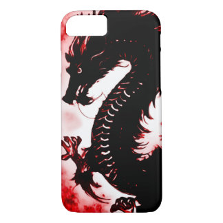 iPhone 7 Chinese Fire Dragon Fantasy Art Nouveau iPhone 8/7 Case