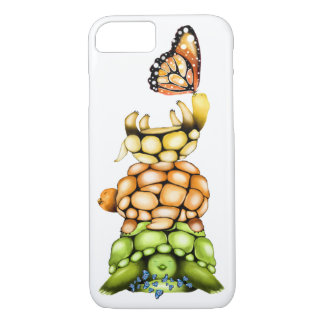 iPhone 7 cover, Cute Turtles&Butterflies Cover
