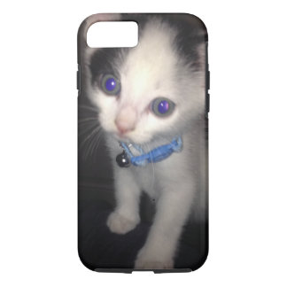 iphone 7 durable black cover with a cute cat print