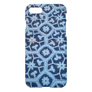 iPhone 7 Glossy Case with Crochet Afghan Design