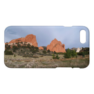 iPhone 7 Glossy Case With Red Rocks in Garden of t
