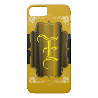 iPhone 7 Monogrammed with metallic background CASE