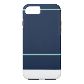 iPhone 7 Navy & Teal Stripe Pattern iPhone 8/7 Case