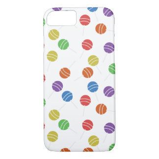 iPhone 7 Phone Case w/ Colorful Lollipop Pattern