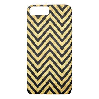 iPhone 7 plus art deco gold black case