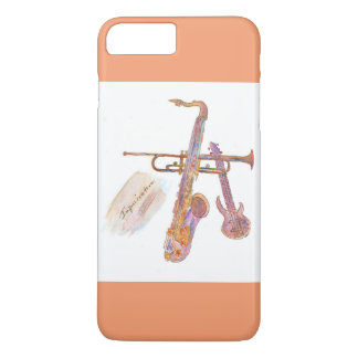 iPhone 7 Plus, Barely there with jazz pict iPhone 7 Plus Case