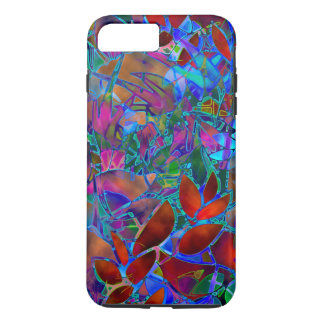 iPhone 7 Plus Case Floral Abstract Stained Glass