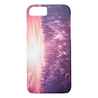 Iphone 7 plus Case red sun purple dream