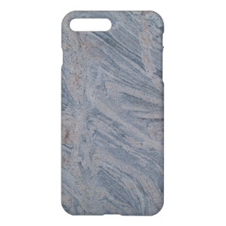 iPhone 7 Plus Matte Case Gray Marbled Texture Back