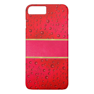 iPhone 7 Plus Red Raindrops Quality Phone Case