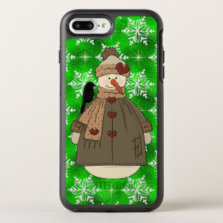 iPhone 7 plus snowman Christmas phone