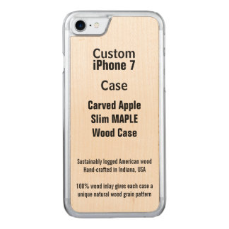 iPhone 7 Real Maple Carved iPhone 7 Case