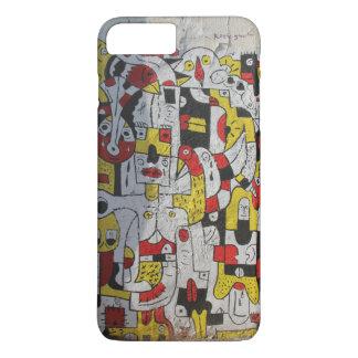 iphone 7Plus case featuring graffiti of Tel Aviv