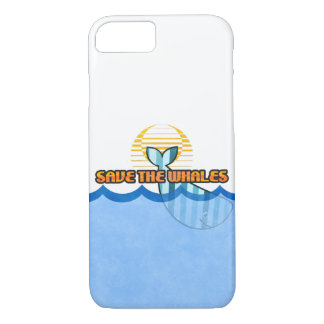 """iPhone 8/7, Barely There """"Save the Whales"""" Case"""