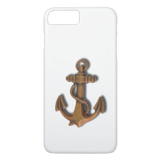 iPhone 8 Plus Copper Anchor on White iPhone 8 Plus/7 Plus Case