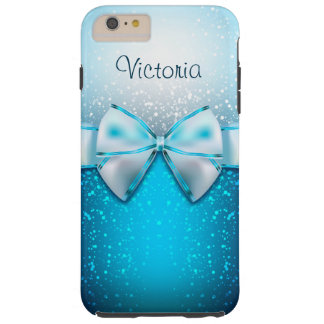 iPhone bleu Girly de vacances de scintillement 6 Coque Tough iPhone 6 Plus