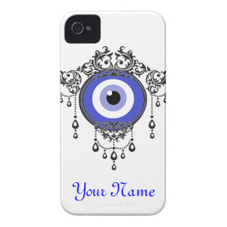 iPhone blue evil eye case