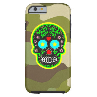 iPhone  camouflage mexican skull Tough iPhone 6 Case