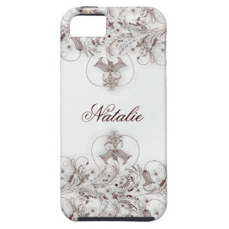 IPhone Case 5 Vintage Floral Taupe