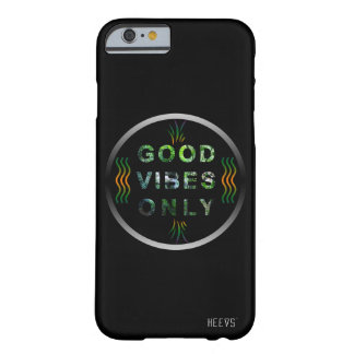 """iPhone Case 6/6S """"Good Vibes Only"""" Black Heevs™"""