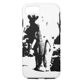 IPhone case black and white print Elephant
