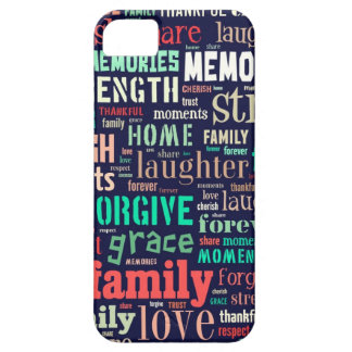 iphone case- family word art iPhone 5 case