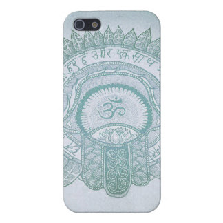iPhone case hamsa om zen lotus hippie drawing iPhone 5 Cases
