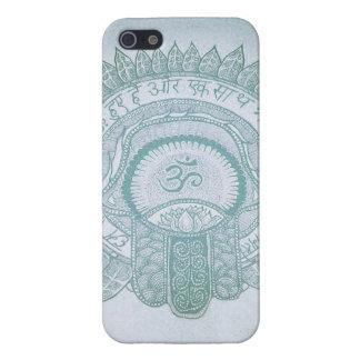 iPhone case hamsa om zen lotus hippie drawing iPhone 5 Cases