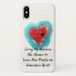 iPhone Case- Heart and Paw Print by Andy Mathis iPhone X Case