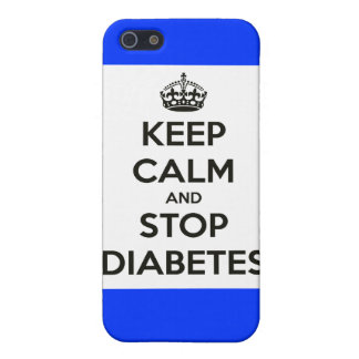iPhone case ~ Keep Calm and Stop Diabetes iPhone 5/5S Case