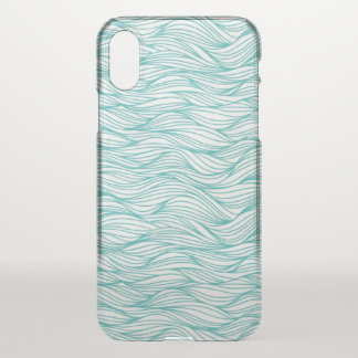 iPhone Case/ Light Blue Water Waves iPhone X Case