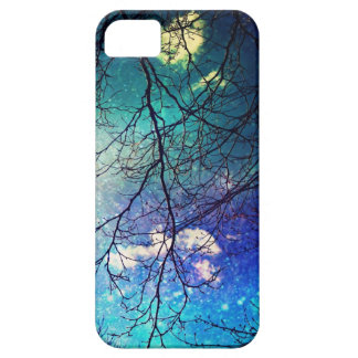iphone case- night sky, trees, stars, magical iPhone 5 cases