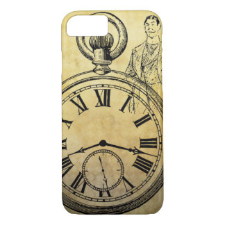 Iphone case old hand watch.