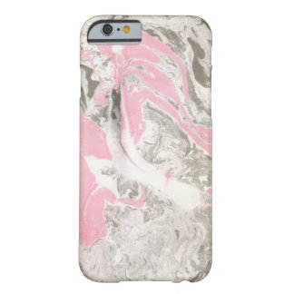 iPhone case pink and black marble