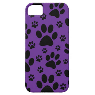 iphone case, Purple paw prints, pet, animal Case For The iPhone 5
