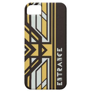 iPhone case SE/5/5s (Black) [Art Deco]