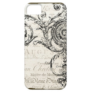 iPhone Case Vintage Ephemera French Script