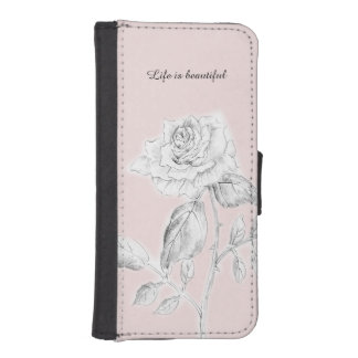 iPhone case with Pencil drawing Rose