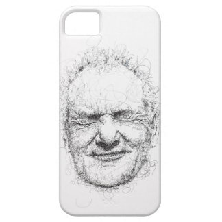 Iphone case with scribbly Bill Murray portrait