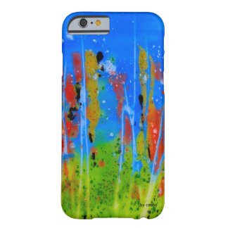Iphone case with splashed-colors