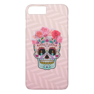 iphone case with sugar skull design